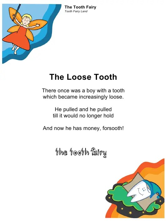 Sample Tooth Fairy Letter For A Boy