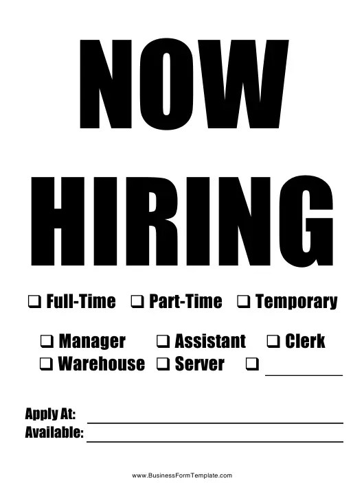 New Hire Announcement Sign Template Download Printable PDF
