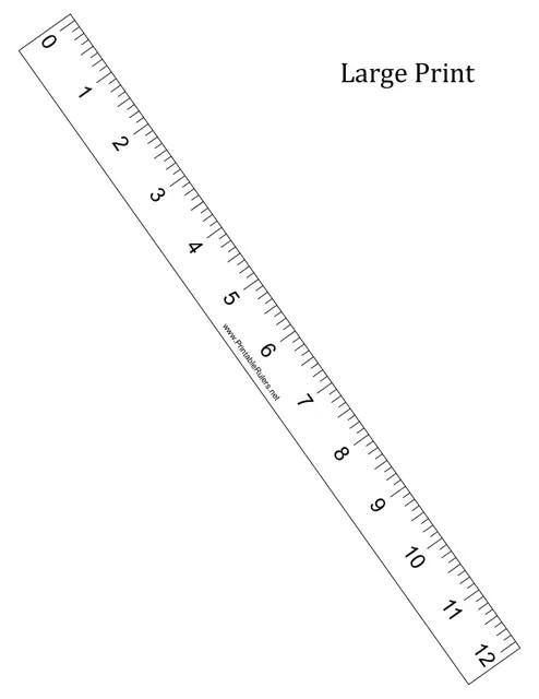 Large Print 12-inch Ruler Template Download Printable PDF