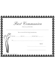 Religious Certificate Templates Pdf. Download Fill And