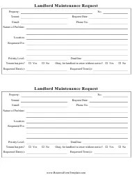 Small three part maintenance request form, package of 100. Maintenance Request Form Templates Pdf Download Fill And Print For Free Templateroller