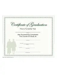 Speech Therapy Graduation Certificate Template Download