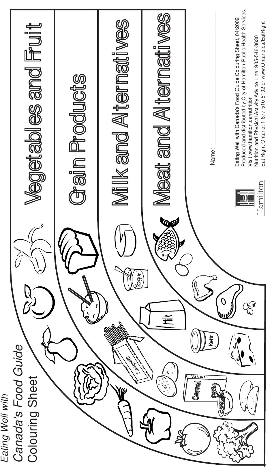 Canada Canada's Food Guide Coloring Sheet Download