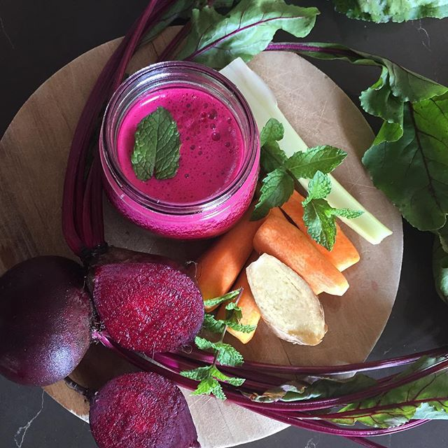 Beet, Carrot, Ginger, Celery And Mint Juice recipe by Arzu Dogan ...