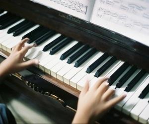 piano, music, and vintage -kuva