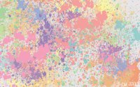 Pastel paint splashes | We Heart It | wallpaper ...