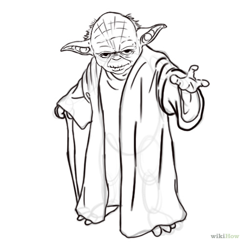 How to Draw Yoda from Star Wars: 7 Steps (with Pictures)