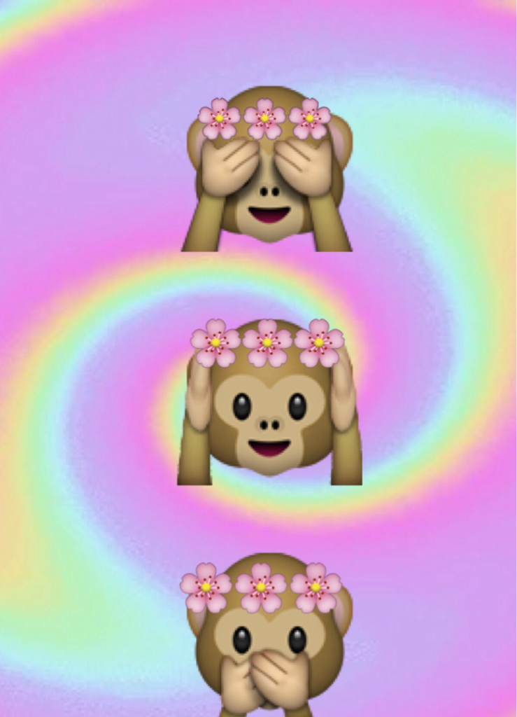 Cute Emoji Wallpapers Monkeys Monkey Emoji We Heart It Emoji