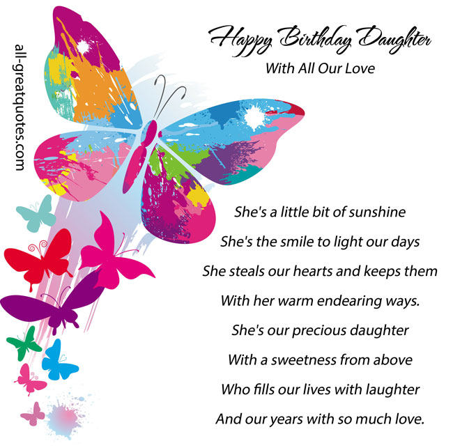 happy birthday daughter with
