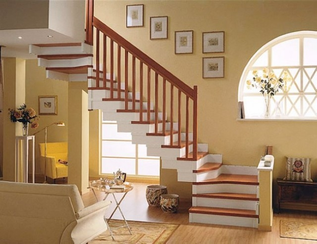 Interior The New Stairway Designs For The Modern And Simple House | Simple Staircase Designs For Homes | Kitchen | Interior | Tiny | Simple 2Nd Floor House | Space Saving