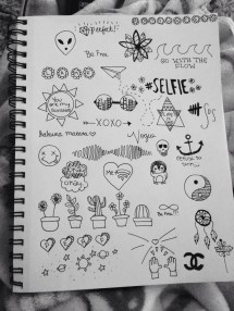 Simple Aesthetic Tumblr Doodles Notebook Imgurl