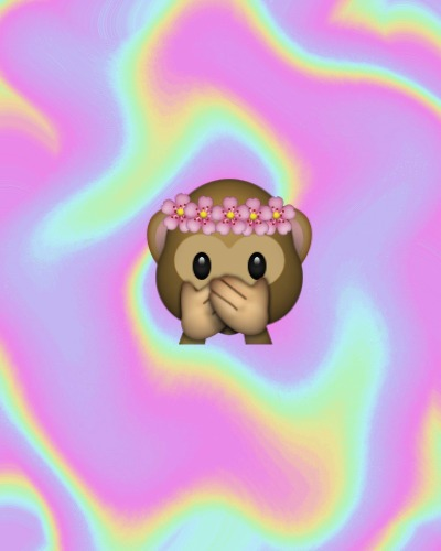 Cute Emoji Wallpapers Monkeys Nom Nom Nom Nom Nom We Heart It Monkey Flowers And Emoji