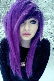 emo girl with purple hair