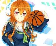 anime girl- orange