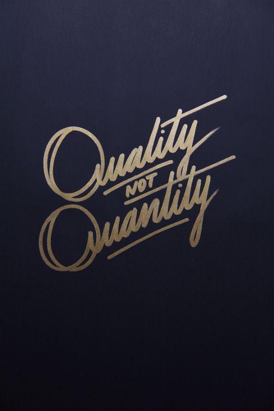 quality, quotes, and quantity -kuva