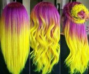 pink and yellow hair arwiin
