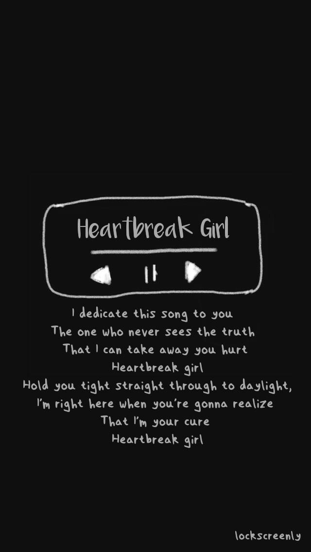 Twenty One Pilots Cute Wallpaper Heartbreak Girl By 5sos Lyrics Lockscreen By Lockscreenly