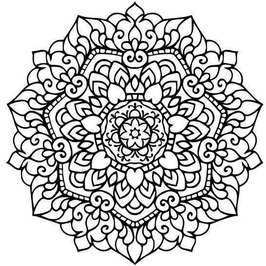 Mandala Adult Coloring Page Printable PDF от