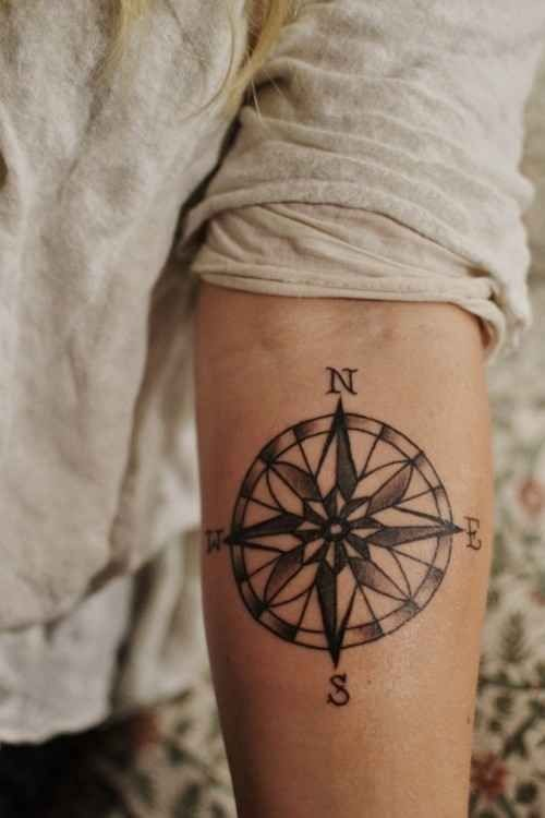 compass-tattoo-designs-500x750.jpg (500×750) discovered by Gadi