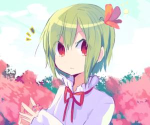 green hair anime