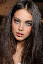 brown hair and blue eyes - mature