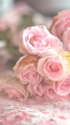 background beautiful beauty flora flowers inspiration luxury nature pastel pink flowers pink roses retro roses soft still life style vintage wallpapers we heart it woman backgrounds pastel flowers pink background pastel color