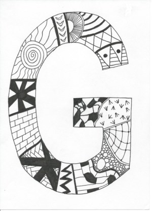 easy drawings zentangle simple zentangles patterns doodle anyone doodles drawing letter draw heart cliparts lettering coloring printable visit take