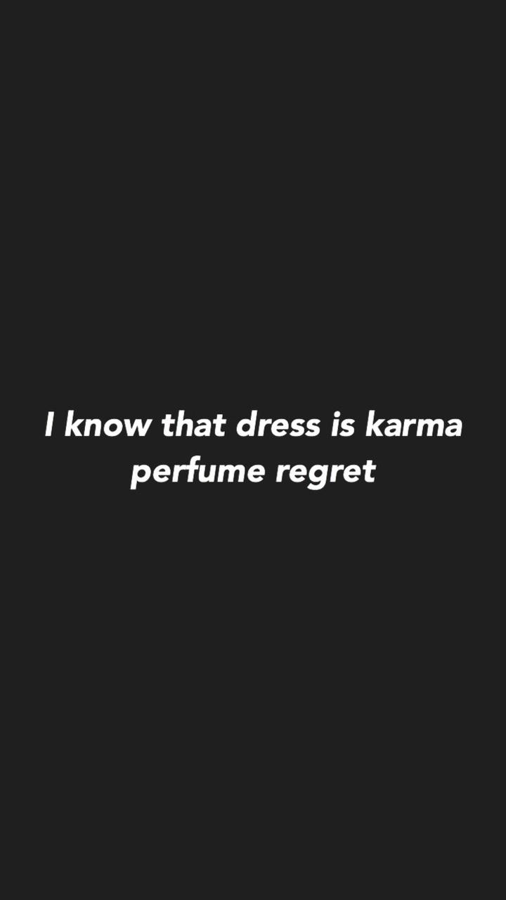 I Know That Dress Is Karma Perfume Regret : dress, karma, perfume, regret, Attention, Charlie, Discovered, Pattarapa.