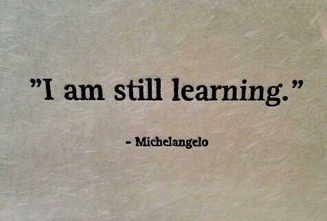 quote, michelangelo, and learning image