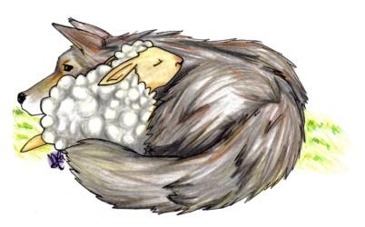 Cute Love Wolf Drawing 4