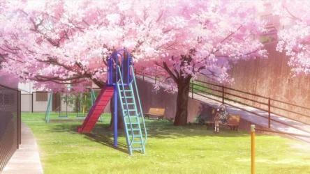 anime pink cute scenery art aesthetic by sofiahalbof screencap screenshot : anime park anime background anime scenery anime landscape anime sakura and cherry blossom anime spring alternative]