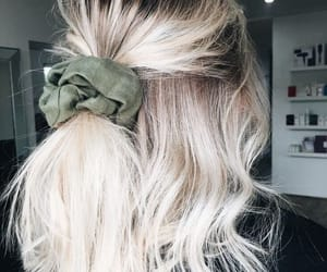 beautiful, scrunchie, and blonde image