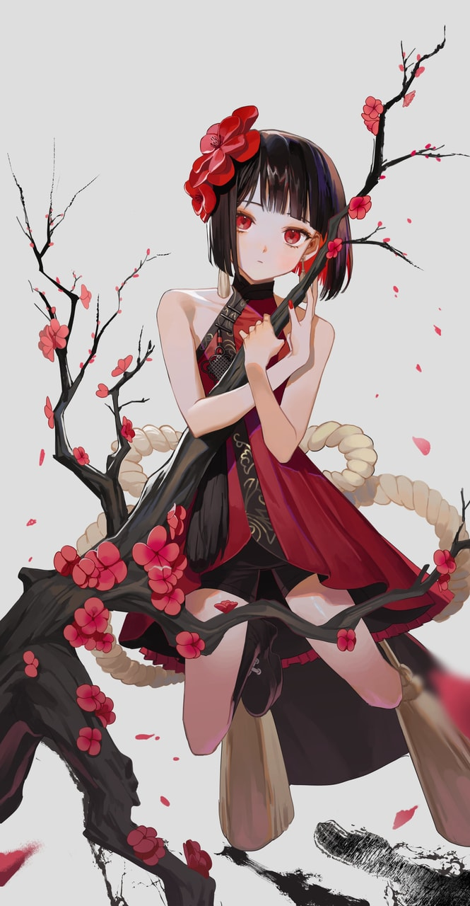 Anime Flower Girl : anime, flower, Images, About, Anime, Flower, Heart, Anime,, Flowers