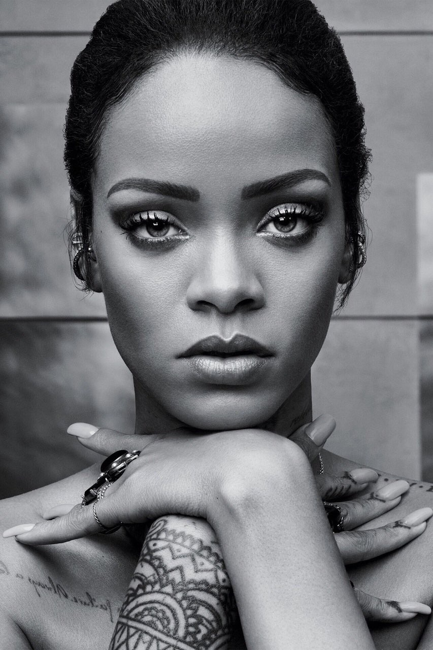 Rihanna Black And White : rihanna, black, white, Image, About, Black, White, Rihanna, Heart