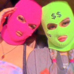 Wallpaper Baddie Gangsta Ski Mask Aesthetic Blue