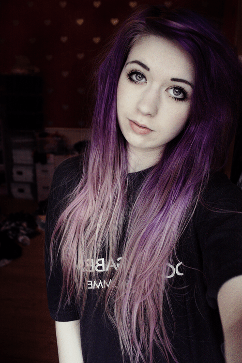 Cute Girl With Purple Hair : purple, Image, About, Arianna, Heart