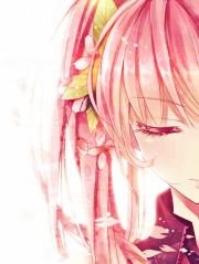 pink anime girl hair cute