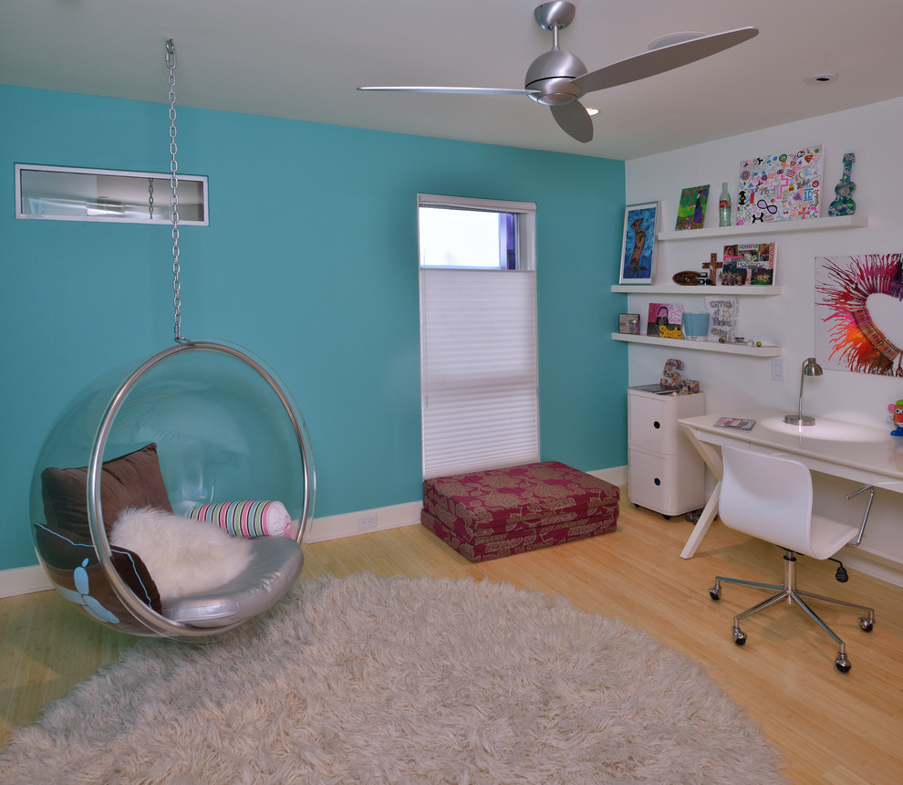 Teen Room Chair Piney Point Ranch Modern Kids Houston Rd Architecture Llc