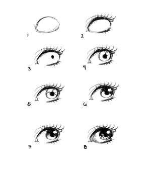 eyes eye drawing basic tutorial draw easy step drawings simple anime sketch beginners cartoon sketches steps heart cool looking manga