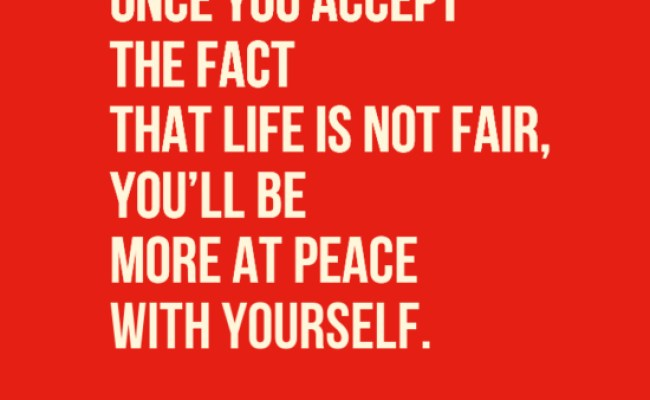In Your Face Poster Once You Accept The Fact That Life Is