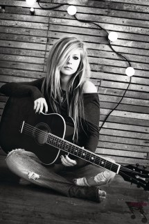 Avril Lavigne with Guitar