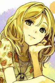 blonde anime girl whi