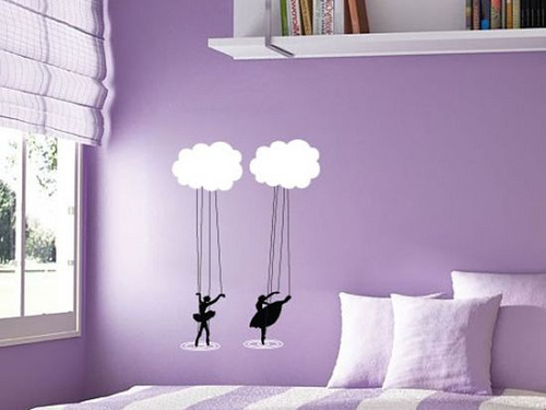 pastel purple wall paint