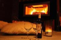 romantic winter evening by the fireplace by Daga   WHI