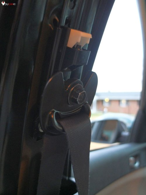 small resolution of  upper seat belt bracket