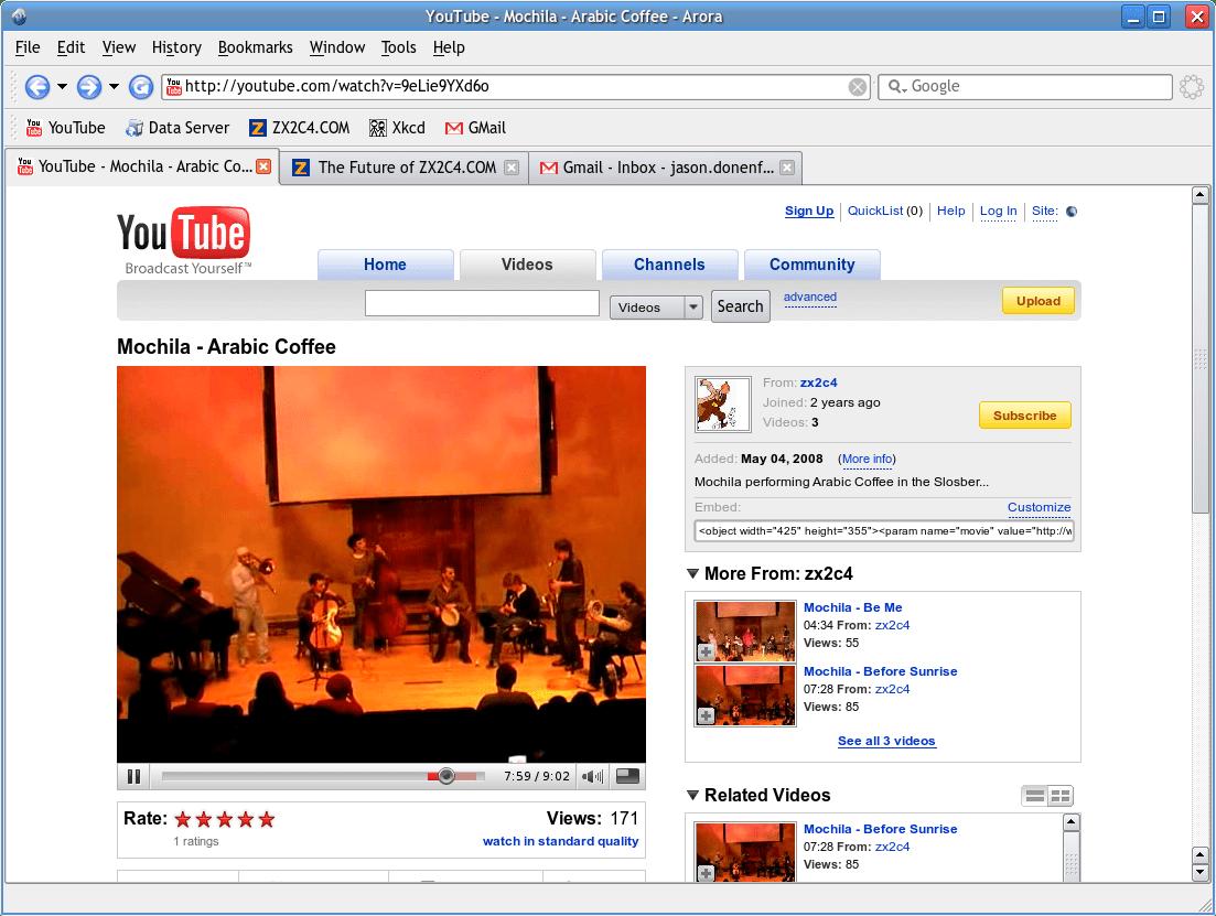Arora, a WebKit browser in Qt – /home/liquidat
