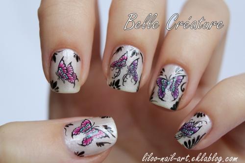 Farmasi 05 (Polishinail shop) et WD papillons BLE1396 (Belle Créature) ...