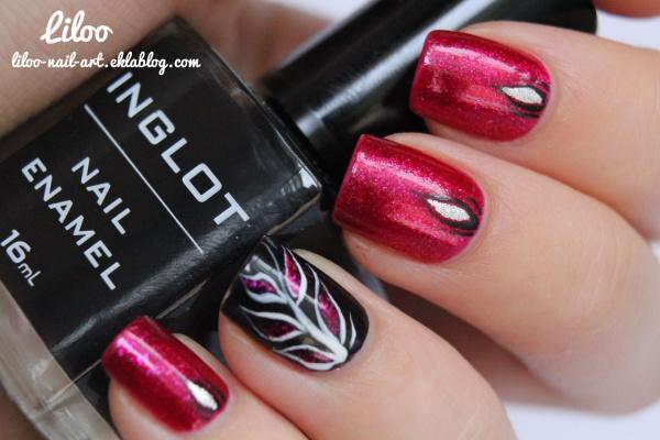 OPI - Let me entertain you et son nail art ... :)