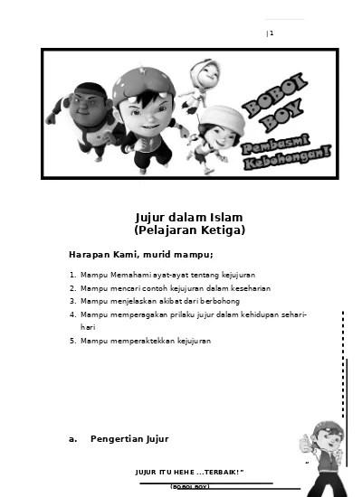 Pengertian Jujur Dalam Islam : pengertian, jujur, dalam, islam, MODUL, Jujur, Dalam, Islam