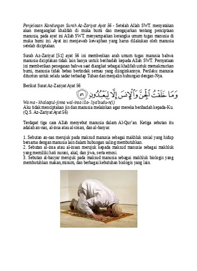 Qs Az Zariyat 56 : zariyat, Penjelasan, Kandungan, Surah, Zariyat